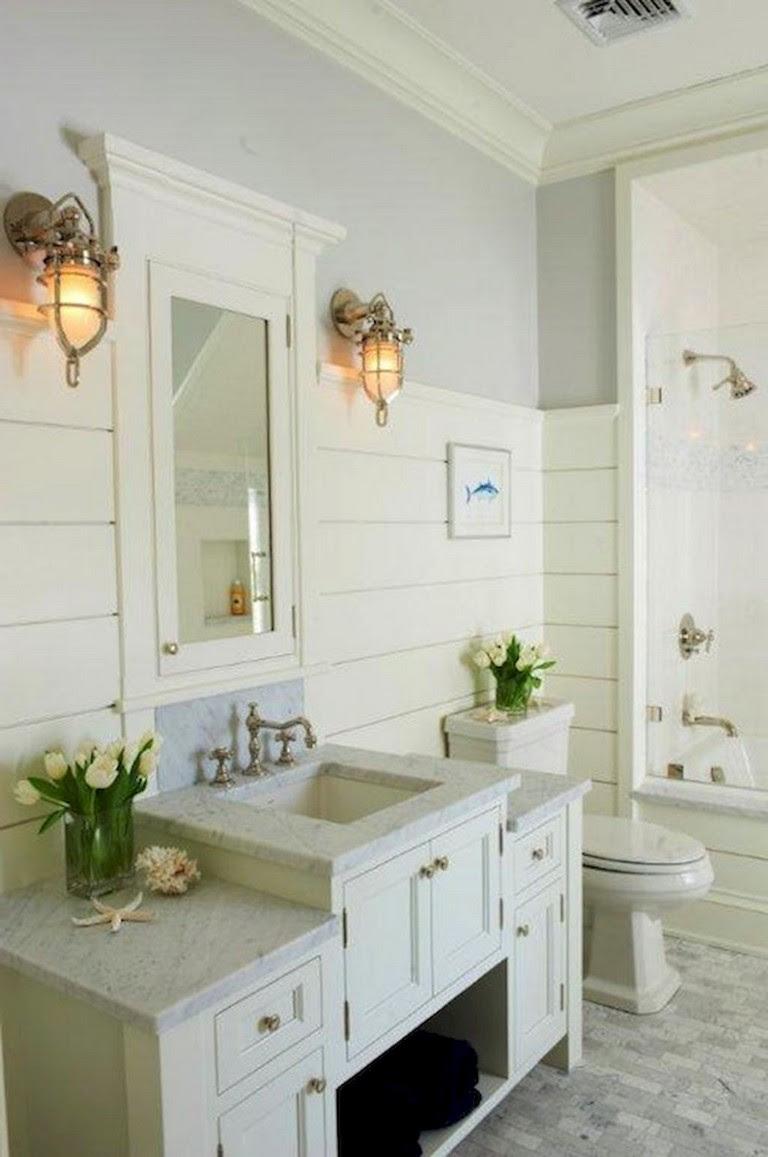 59+ Gorgeous Coastal Beach Bathroom Decoration Ideas ...
