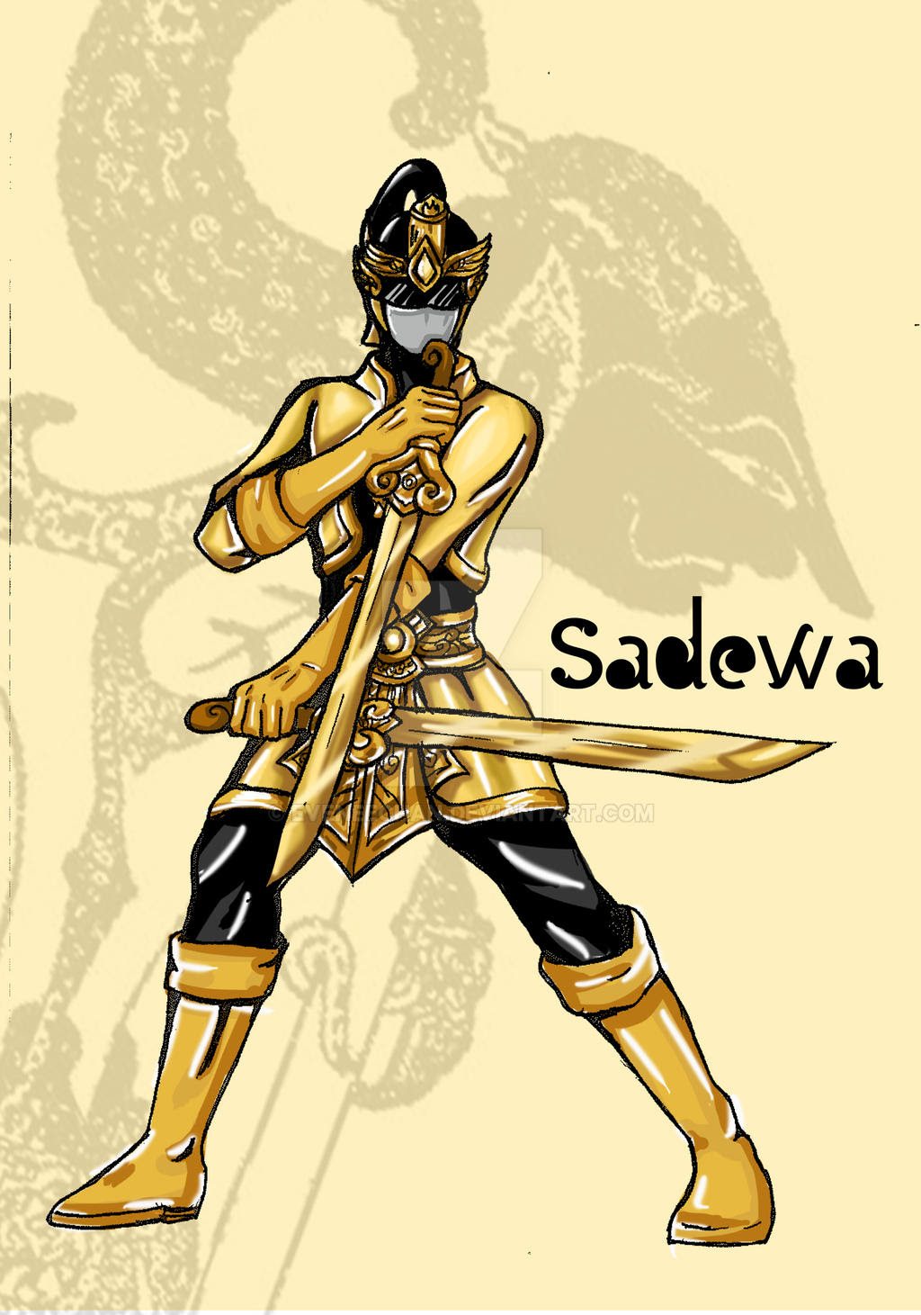 Sadewa The Gold Pandawa Ranger By Eveneechan On Deviantart