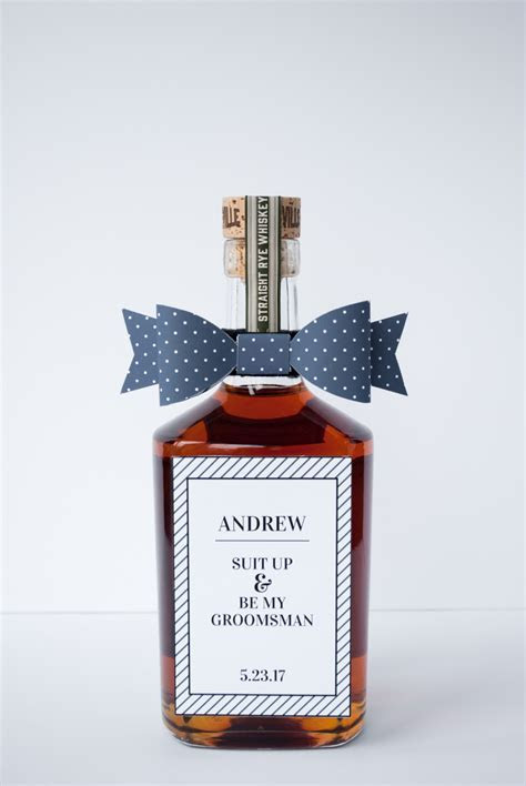DIY Will You Be My Groomsman / Best Man Gift and Free