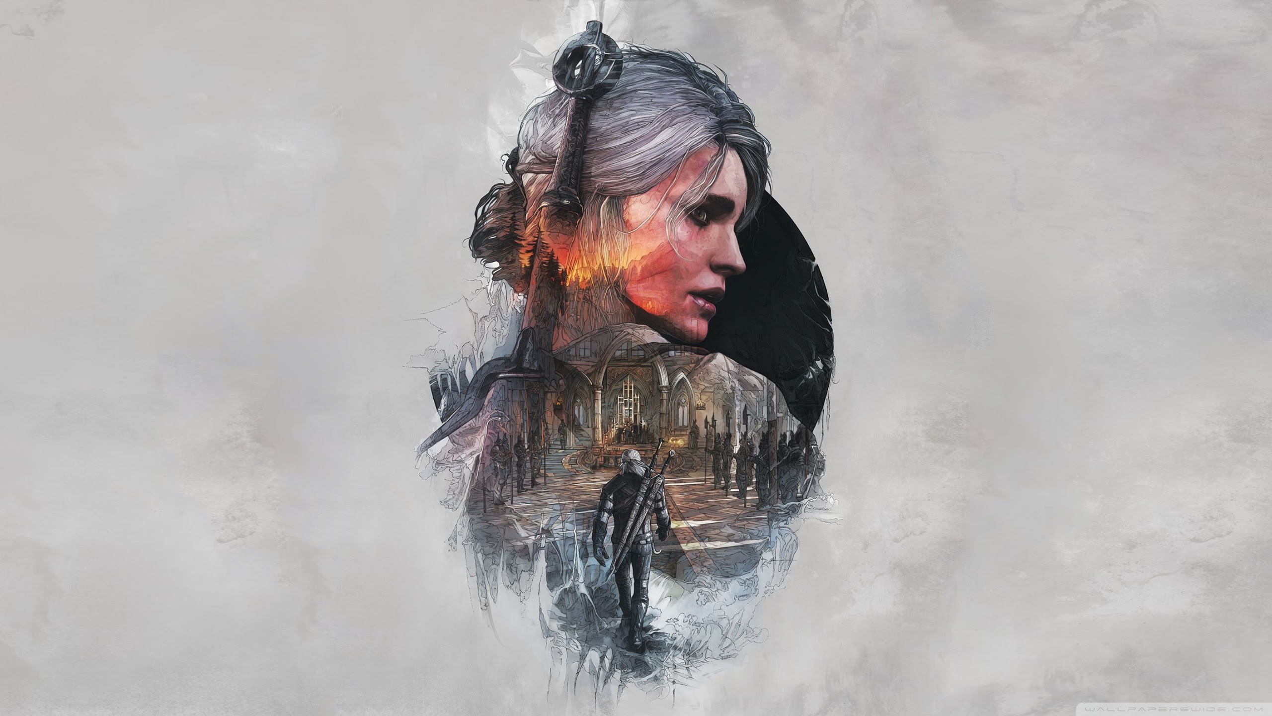 The Witcher 3 Wild Hunt Ciri Fanart Ultra Hd Desktop Background