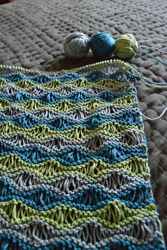 closeup on blanket