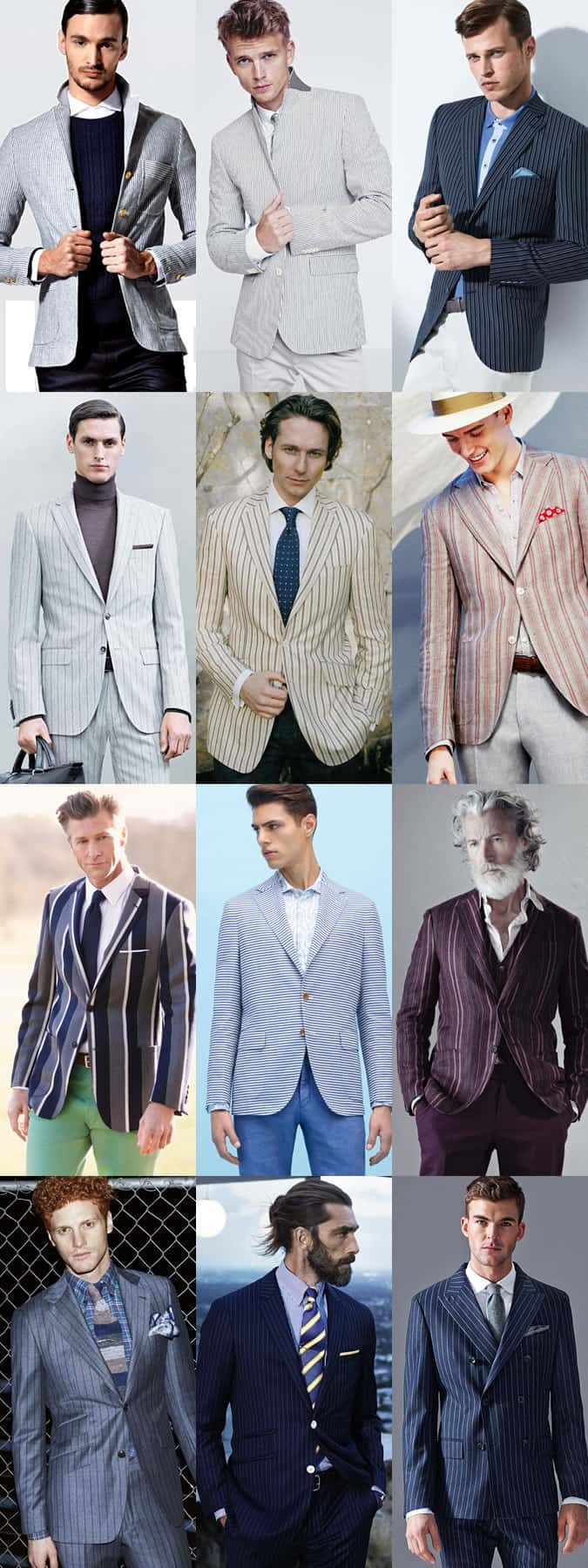 Men's Striped Tailoring - Suits and Blazers - Outfit Inspiration Lookbook