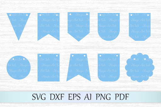 Free Bunting Banners Svg Dxf Eps Ai Pdg Png Crafter File
