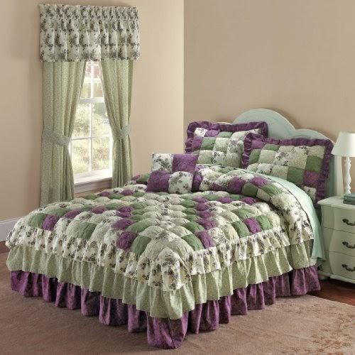1 Low Price Brylane Home Alexis Bedspread Purple Green