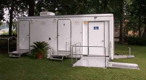 ADA Certified Portable Restroom Trailer. One bathroom is