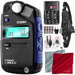 Sekonic L-308X-U Flashmate Light Meter with Xpix Professional Camera Strap, Camera Lens Cleaning Kit, and Deluxe Bundle by PhotoSavings.com