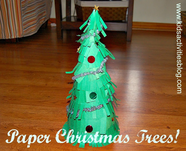DIY Christmas Decorations} How to Make Paper Christmas Trees