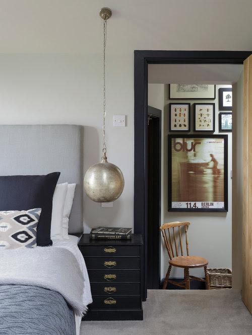 Farrow and Ball Cornforth White bedroom