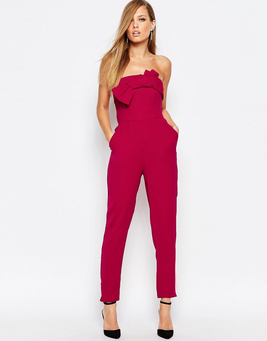 Image 1 of Coast Ariella Bandeau Jumpsuit with Bow Front