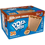 Pop Tarts Toaster Pastries, Frosted, Brown Sugar Cinnamon - 36 pack, 21 oz pastries