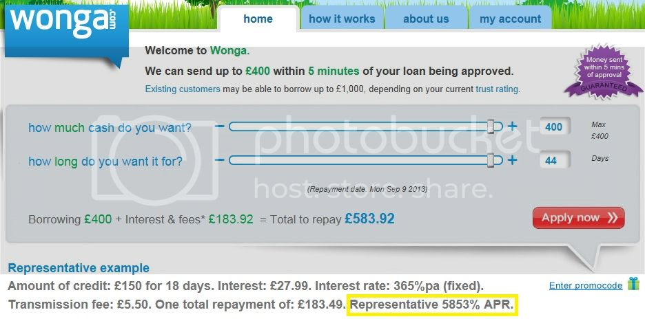 click to go to Wonga's 'about' page