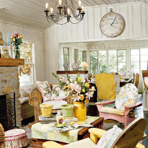 """A potpourri of """"Cottage-style"""" Living Rooms! 