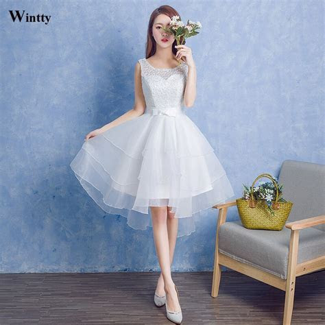 Wintty 2017 sexy vintage style wedding dresses lace short
