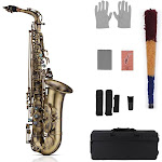 muslady high grade antique finish eb e-flat alto saxophone sax