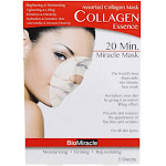 BioMiracle 20 Minute Miracle Assorted Collagen Essence Facial Sheet Mask 5 Count