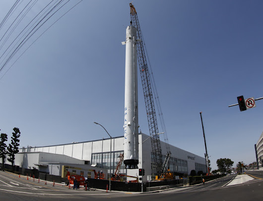 SpaceX puts historic flown rocket on permanent display – Spaceflight Now