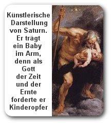 Gott Saturn mit Baby