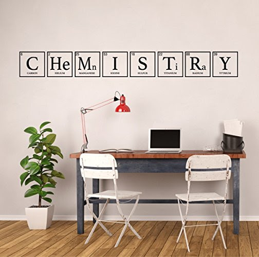 """Chemistry"" Periodic Table of Elements Vinyl Wall Sign for Classroom"
