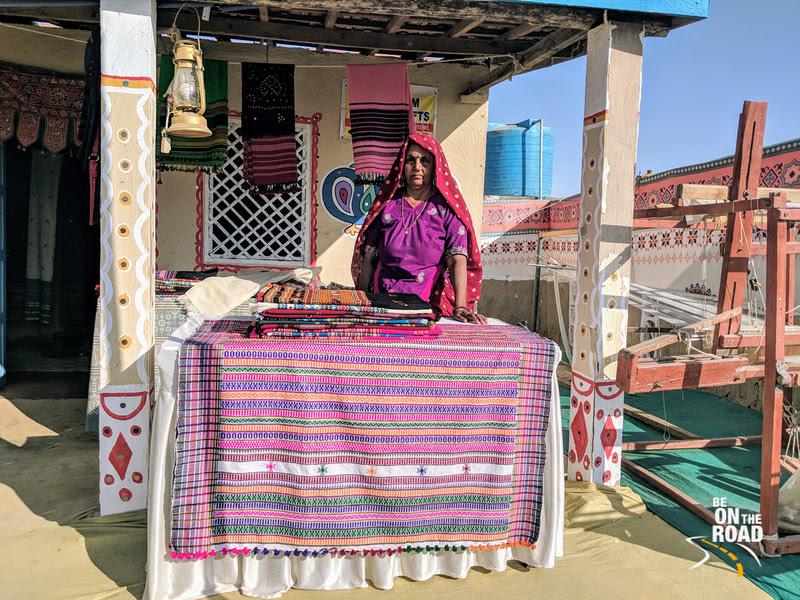 Lakshmi Bain - the master weaver from Nirona, Kutch, Gujarat