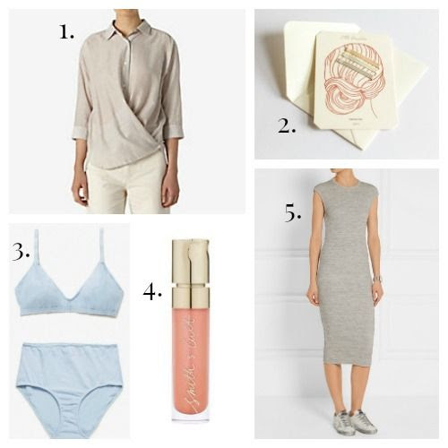 Steven Alan Shirt - Odeme Bobby Pins - Pansy Lingerie - Smith and Cult Lip Gloss - James Perse Dress