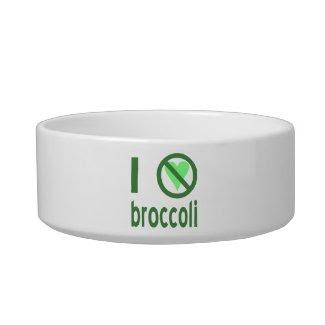 I Hate Broccoli Cat Bowls
