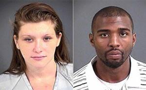 Casal foi preso ao ser flagrado fazendo sexo em loja (Foto: North Charleston Police Department/Divulgação)