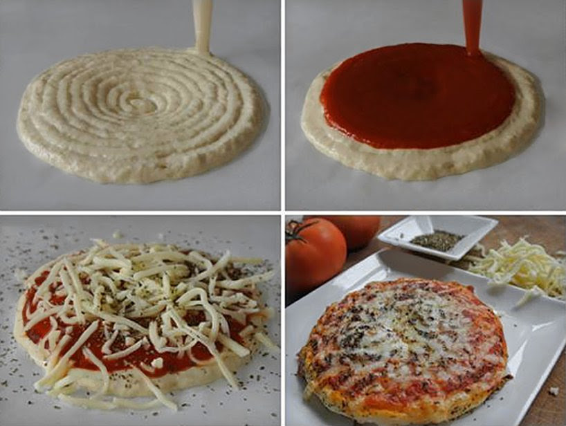 3D print a pizza with the foodini kitchen appliance