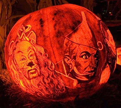 Wonderful Wizard of Oz Pumpkin Carvings