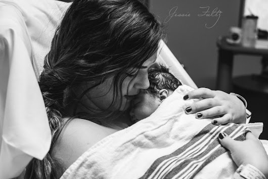 Asheville, NC Birth Photographer | {A Birth Story: Olive Piper} Beautiful baby girl hospital birth | Jessie Fultz Photography