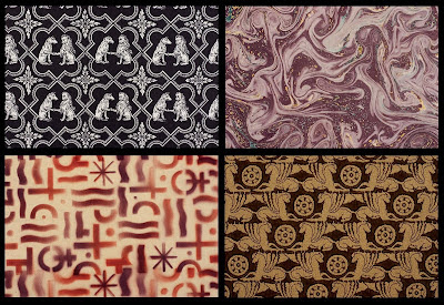 decorated paper samples