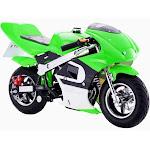 MotoTec GBmoto Gas 40cc 4-Stroke Pocket Bike - Green