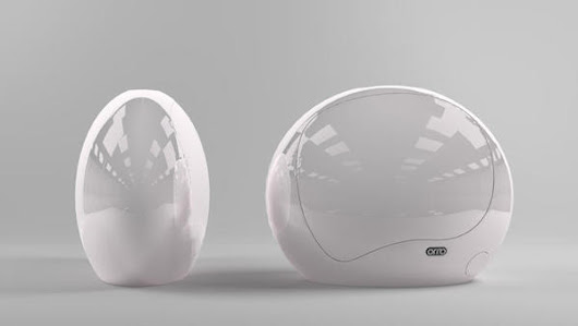 A High-Tech, Womb-Like Pod For The Office, To Relax In During The Work Day - DesignTAXI.com