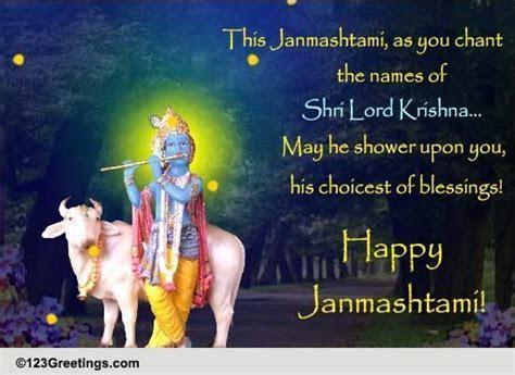 Shri Lord Krishna! Free Janmashtami eCards, Greeting Cards