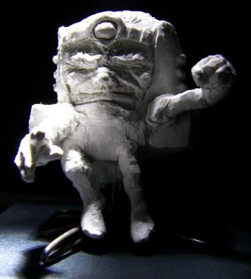 homemade sculpture of Modok aka M.O.D.O.K. aka The Mental Organism Designed Only for Killing
