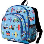 "Wildkin 12"" Olive Trains-Planes & Trucks Pack 'n Snack Kids' Backpack - Blue Trains/Planes"