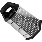 """Evelots Cheese Grater Vegetable Slicer Stainless Steel, 6 Sided, 9.5"""""""