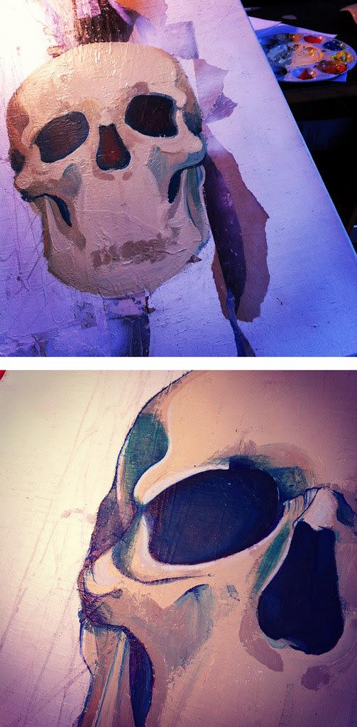 Crâne bleu #1 © Emilie Vasset