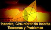 Incentro del Triangulo, Teoremas y Problemas, Geometria Plana.