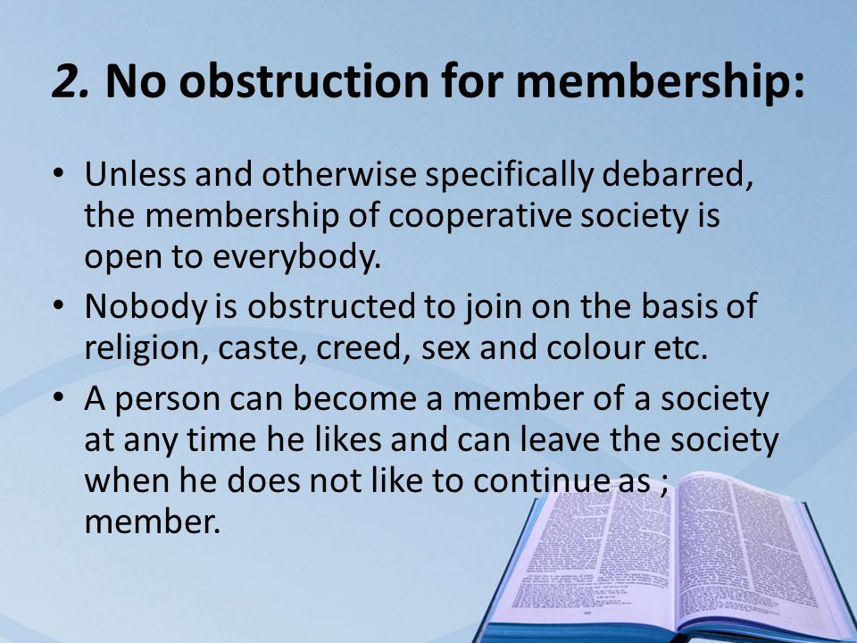 Image result for No obstruction for membership