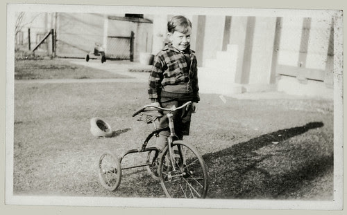 Boy and tricycle