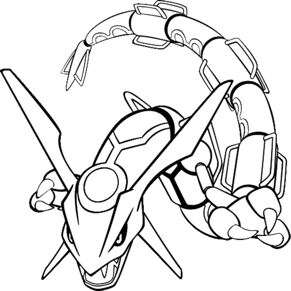 coloriage rayquaza pokemon