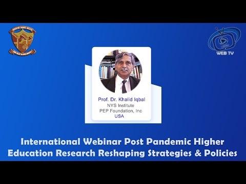 Prof. Dr. Khalid Iqbal NYS Institute PEP Foundation, Inc (USA) Internati...