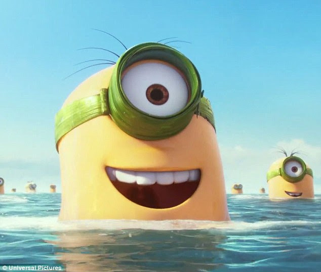 Image result for minion kevin swim