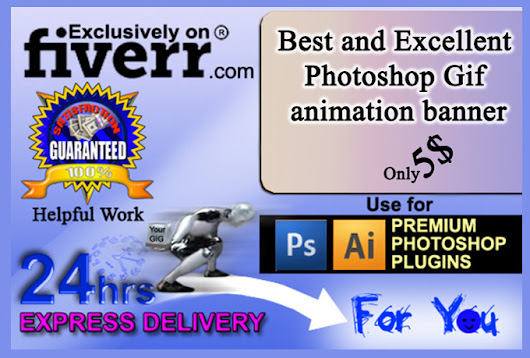 I will design Photoshop gif animated banner AD for $5