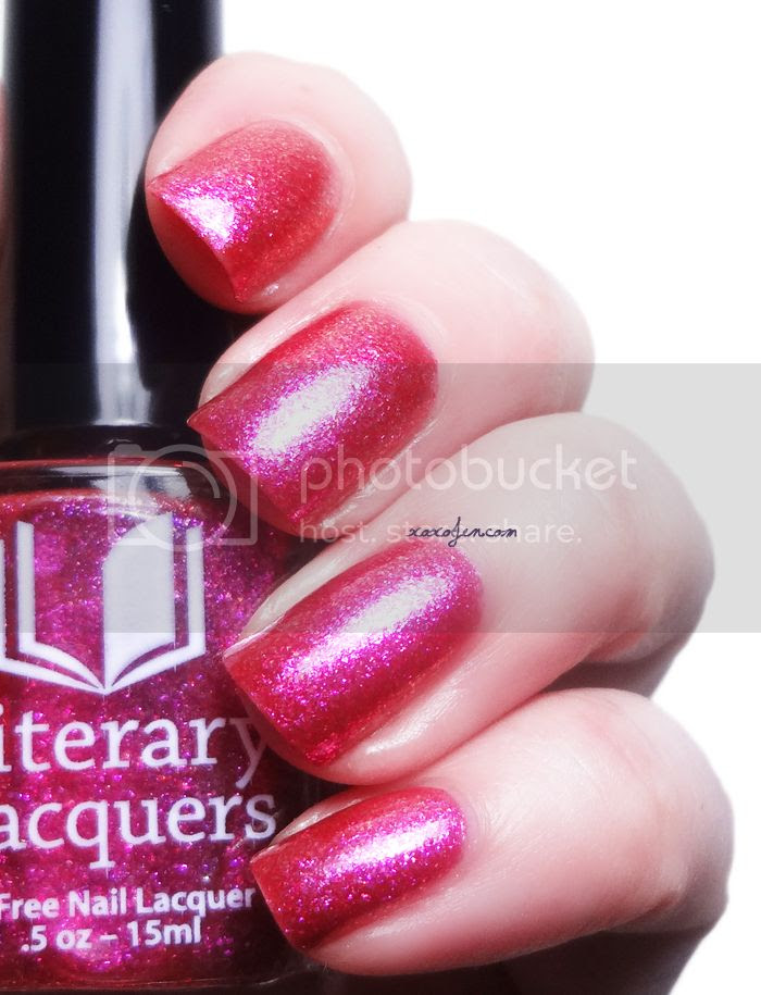 xoxoJen's swatch of Literary Lacquers The Ruby Thief