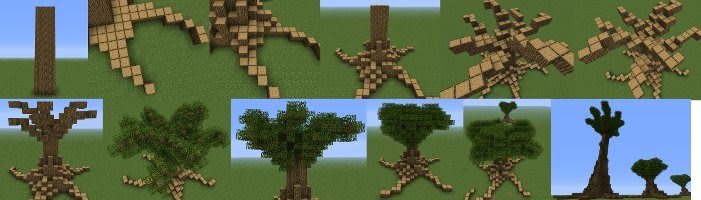 furniture minecraft mod large trees