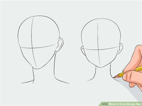 draw manga hair  steps  pictures wikihow
