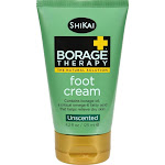 Shikai Products - Borage Therapy Foot Cream - Unscented ( 2 - 4.2 OZ)