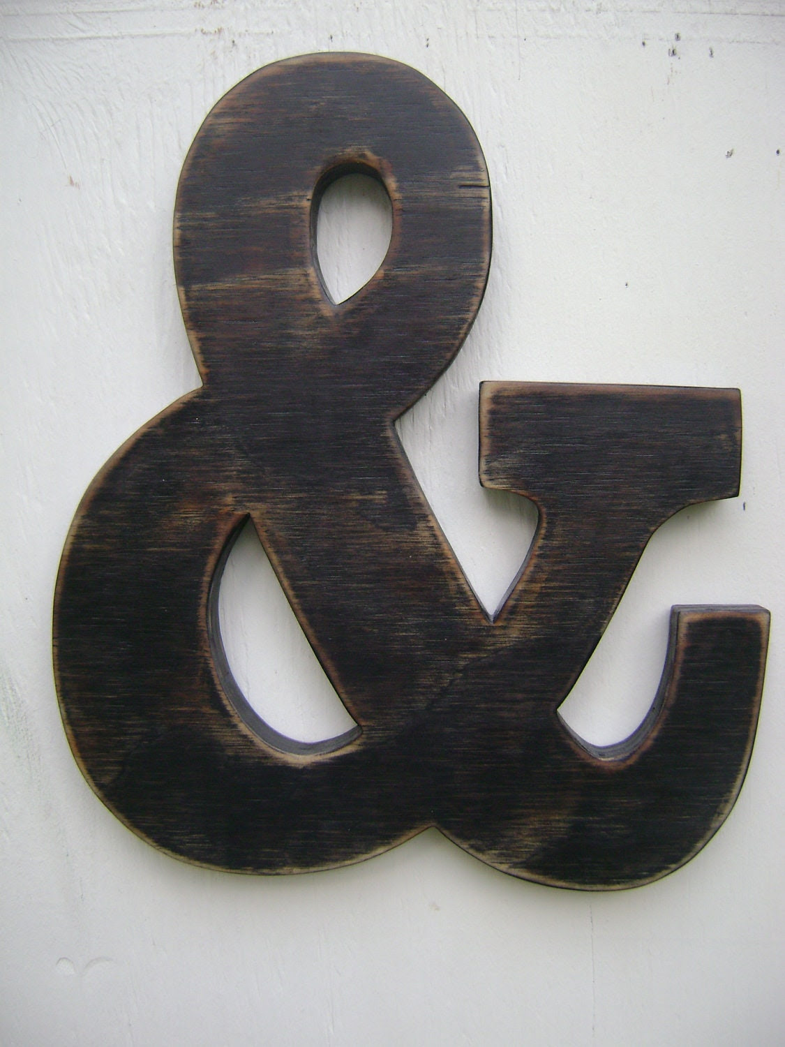 shabby sign ampersand rustic and rustic   chic  wooden wall Ampersand sign letters hanging