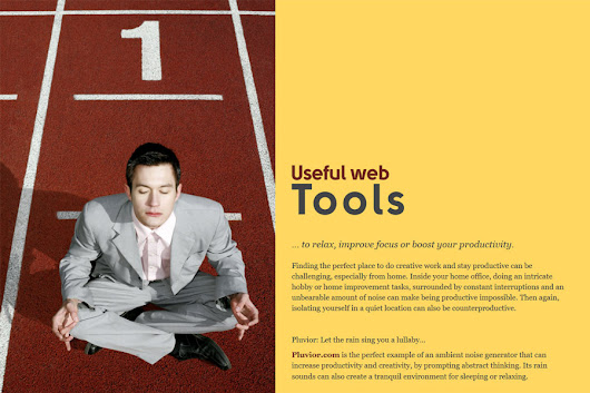 Web tools to relax, improve focus or boost productivity
